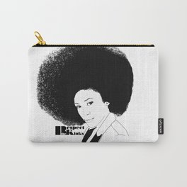 Respect the Kinks Natural Hair Positive Affirmation. Carry-All Pouch