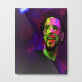 J Cole Hip Hop Metal Print