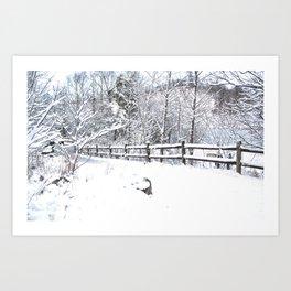 Snowfall at Brickworks on Christmas Day, 2020. LXXXVIII Art Print