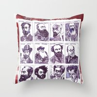degas Throw Pillows featuring Portraits of artists by Alessandro Andreuccetti