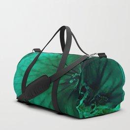 green flower stylization Duffle Bag