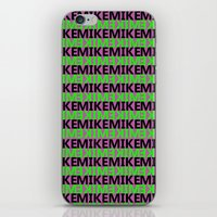 mike wrobel iPhone & iPod Skins featuring Mike by Kyle McDonald
