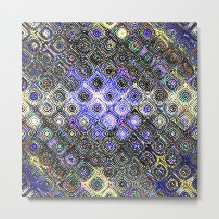 Digital Beads of Glass Metal Print