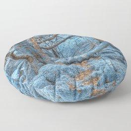 Sapphire Forest Floor Pillow
