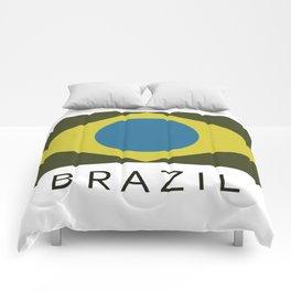 brazil flag Comforters