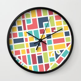 Lancaster, PA Block Map Wall Clock