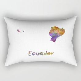 Ecuador in watercolor Rectangular Pillow