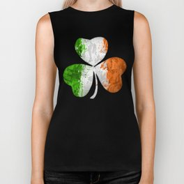 Irish Tricolour Shamrock Biker Tank