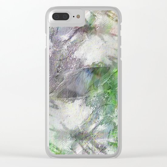 Texture abstract 2017 001 Clear iPhone Case