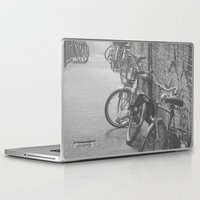 bicycles Laptop & iPad Skins featuring amsterdam bicycles... by Chernobylbob