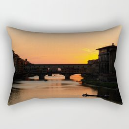Travel Photography: Sunset Over Arno Rectangular Pillow