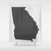 georgia Shower Curtains featuring Georgia Line by Beastie Toyz