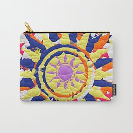 Colorful Quilted sun pattern Abstract Carry-All Pouch