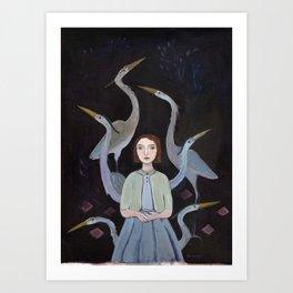 Siege of Herons Art Print