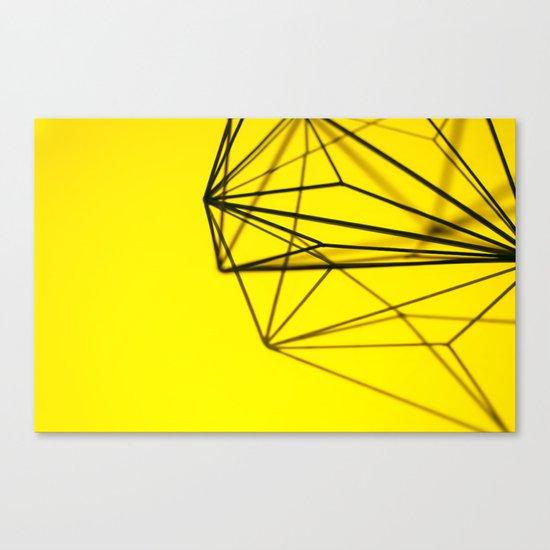 Yellow shape Canvas Print