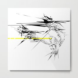 Holy Weapon // (Glitch Owl) Metal Print