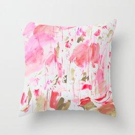 Fluorescent Red Throw Pillow