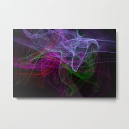 Smooth smoke waves of multiple colors Metal Print