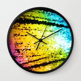 rainBoW Crystal Texture Wall Clock