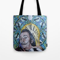 dali Tote Bags featuring Dali  by Magdalena Almero