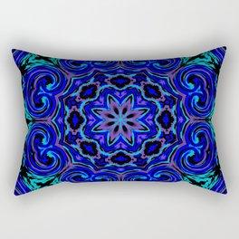 Bright Blue Kaleidoscope Rectangular Pillow