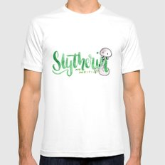 Slytherin The Ambitious  White MEDIUM Mens Fitted Tee