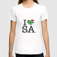 south africa T-shirts featuring I LOVE SOUTH AFRICA by ROGUE AFRICA