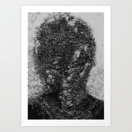 dark fm portrait Art Print