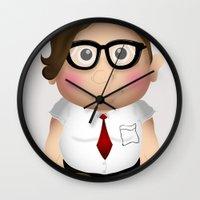 nerd Wall Clocks featuring Nerd. by Creation Factory