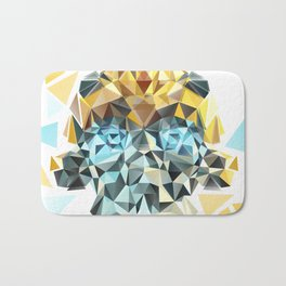 Bumblebee Low Poly Portrait Bath Mat