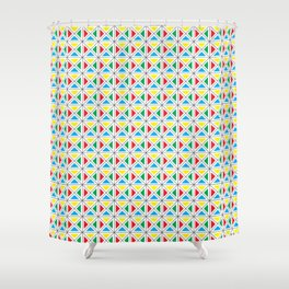 Texture X - Primary colors. Shower Curtain