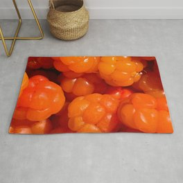 Cloudberry healthy wild berry Rug