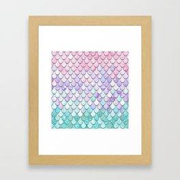 Mermaid Pastel Pink Purple Aqua Teal Framed Art Print