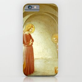 """Fra Angelico (Guido di Pietro) """"Annunciation with Saint Peter the Martyr"""" iPhone Case"""