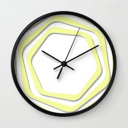 Yellow Optical Illusion Wall Clock