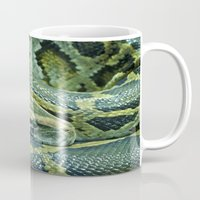 snake Mugs featuring Snake  by Cozmic Photos
