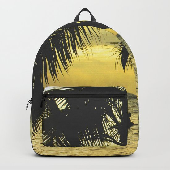Sunset on the Island Backpack