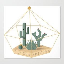 Tucson Arizona Cactus Terrarium Canvas Print
