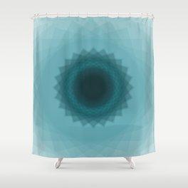The eye of flower Shower Curtain