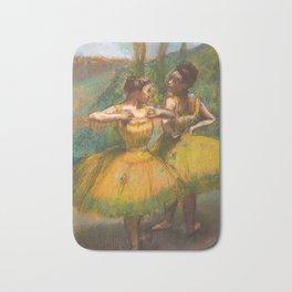 "Edgar Degas ""Two dancers in yellow"" Bath Mat"