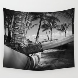 Kuau Palm Trees Hawaiian Outrigger Canoe Paia Maui Hawaii Wall Tapestry