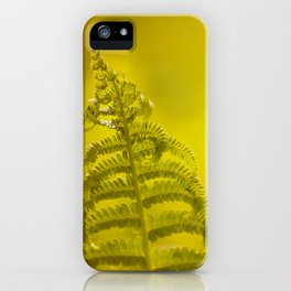 Dryopteris called wood fern leaf and sunbeam iPhone Case
