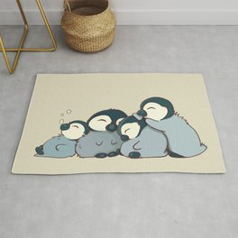 Pile of penguins Rug