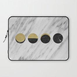 Black Moon on Marble Laptop Sleeve