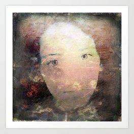 Catalina's Portrait / Retrato artístico de Catalina Art Print