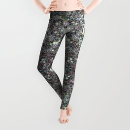Sparkly colourful silver mosaic mandala Leggings