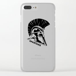 Spartans Black Clear iPhone Case