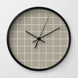 Gray Grey Alabaster Grid Wall Clock