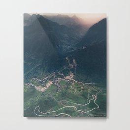 Mountainous town, Sa Pa, Vietnam Metal Print