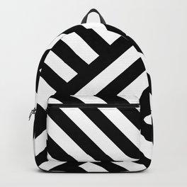 two way stripey diagonal Backpack